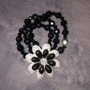 Jeweled Flower Bracelet